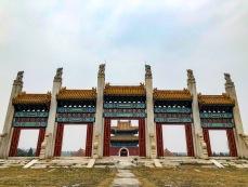 同治皇帝惠陵前的碑楼门。