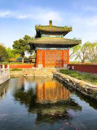 主体建筑也被水环绕,意境十分优雅。